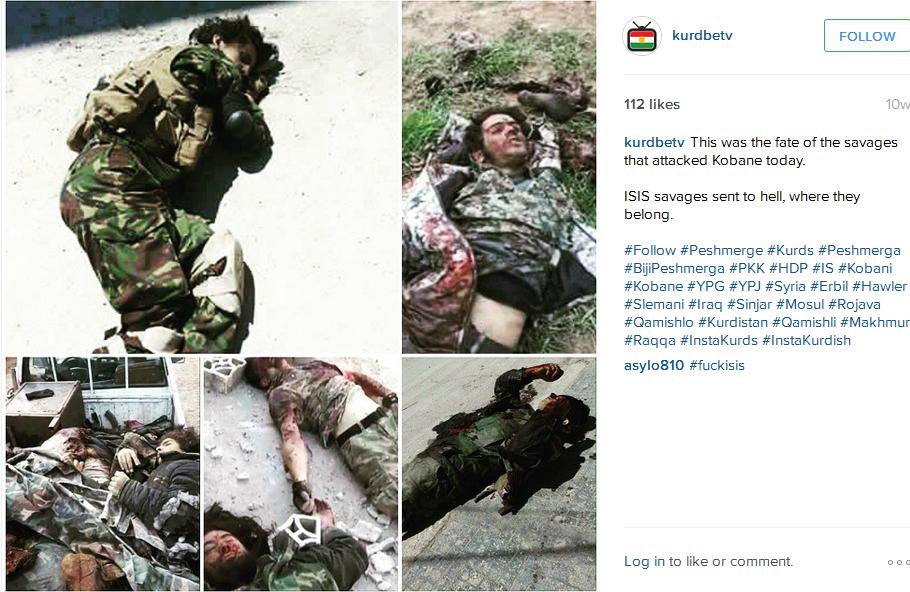 Kurdowie mówią obojowcach Państwa Islamskiego per 'ISIS rats'. Urocze, prawda?
