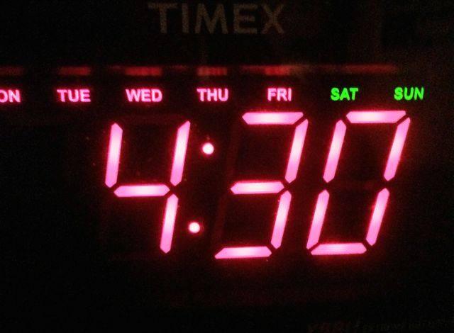 Poco zacząłem wstawać o4:30
